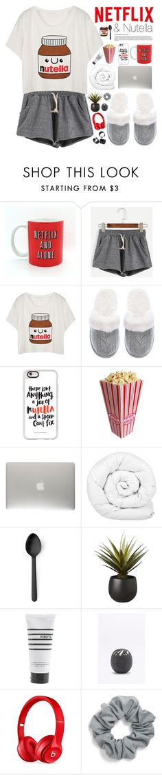 """""""Netflix and Nutella"""" by alltimegabi ❤ liked on Polyvore featuring Victoria's Secret, Casetify, Brinkhaus, Menu, CB2, Pirette, Eos, Beats by Dr. Dre, Natasha Couture and nutella"""