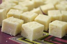Easy, Creamy, Smooth White Chocolate Fudge with Sea Salt (make it in the microwave!)