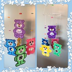 Care Bears mobile hama beads by lulupigen90