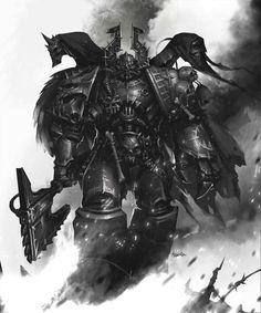 Chaos Space Marine - Warhammer 40000 Khorne berserker concept /fan art by Mikhail Savier Warhammer Fantasy, Warhammer 40k Art, Space Marine, Dark Fantasy, Fantasy Art, Space Wolves, Anime, Fantasy Characters, Game Art