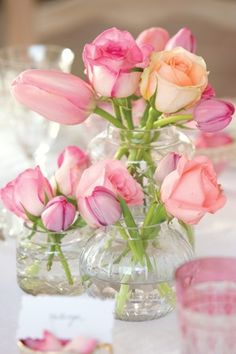 tea time bouquet roses and tulips My Flower, Fresh Flowers, Pink Flowers, Beautiful Flowers, Pink Roses, Pastel Roses, Colorful Roses, House Beautiful, Beautiful Gorgeous