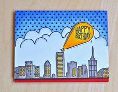 Jamie Gracz for Avery Elle using Super stamp set. #masking