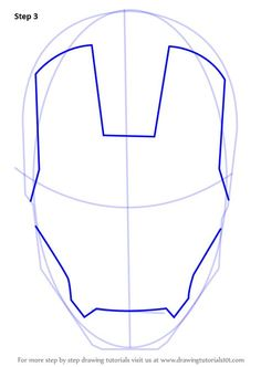 Iron man is a fictional character. He is a super hero. He appeared for the first time in Tales of Suspense. Iron Man Face Paint, Mask Face Paint, Iron Man Art, Iron Man Drawing Easy, Tutorial Draw, Iron Man Kunst, How To Make Iron, Helmet Drawing, Iron Man Birthday