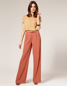 Search for palazzo at ASOS. Shop from over styles, including palazzo. Business Dress Code, Business Attire, Mature Fashion, Modest Fashion, Mode Simple, Palazzo Suit, Pantalon Large, Expensive Clothes, Trouser Suits