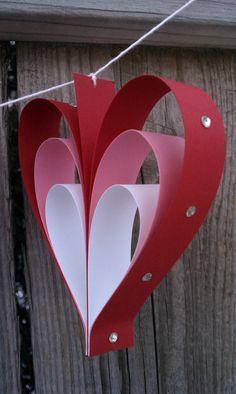 Be Mine Valentine Banner, Be Mine Banner with Rhinestones, Rhinestone Heart Banner, Handmade Valentine Banner. $15.00, via Etsy.
