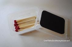 Glue sandpaper to the top of your match holder. | 41 Camping Hacks That Are Borderline Genius