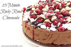 fifteen minute rocky road cheesecake feature