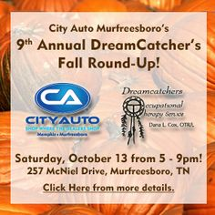 Join City Auto Murfreesboro at the 9th Annual DreamCatcher's Fall Round-Up on Saturday, October 13, 2012!