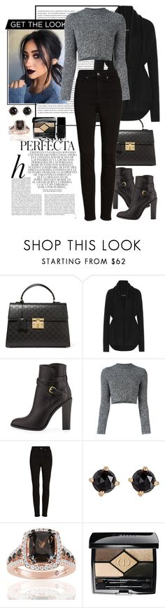 """""""Sem título #818"""" by fashionmodelstyle ❤ liked on Polyvore featuring Oris, Gucci, The Row, Yves Saint Laurent, Whiteley, Carven, Good American, Irene Neuwirth, Suzy Levian and Christian Dior"""