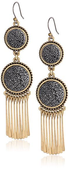 Lucky Brand Pave Statement Earrings