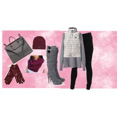 """""""GREY, WINE AND BLACK"""" by telley-m-jay on Polyvore"""