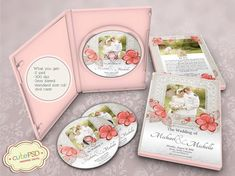 Wedding Dvd Case Floral  Photoshop Templates  CPZ086 by CutePSD, $8.00