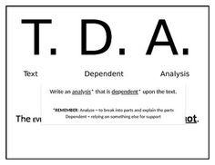 Teaching TextDependent Analysis Essays  Teaching Writing