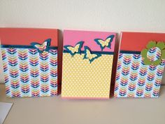 stampin up notebooks using polka dot parade and madison avenue papers