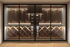 Glass Wine Cellar, Home Wine Cellars, Wine Cellar Design, Cave A Vin Design, Under Stairs Wine Cellar, Living Room Theaters, Hotel Buffet, Home Bar Designs, Wine Display