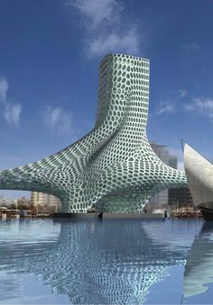 1000 images about odd unique shaped buildings on for D shaped hotel in dubai