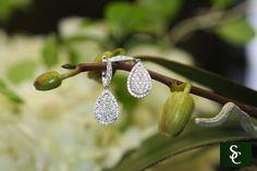 #diamond #earrings #jewelry #pear #hanging