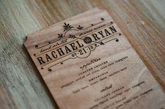 Wedding menu on wood!