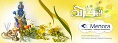 # Vishu is the time to celebrate a new beginning. It announces the onset of spring and fills people with new hope. Wish yOU OLLL Friends and Family with Happy& colorful Vishu.........