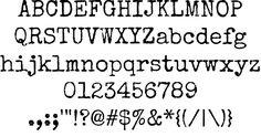 Typewriter inspired font.