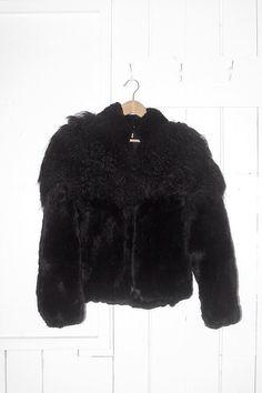Vintage Yak Shearling Collar Fur Jacket by lisedatter on Etsy