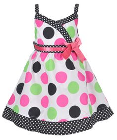 "Sophie Fae Baby Girls' ""Dot Crossover"" Dress with Diaper Cover $9.99"