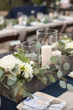 Floral Wedding Centerpieces Planning and Tips - Love It All Planter Box Centerpiece, Wooden Box Centerpiece, Centerpiece Ideas, Wedding Table Centerpieces, Flower Centerpieces, Wedding Decorations, Wedding Tables, Wedding Ceremony, Garden Decorations