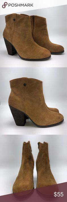 Vince Camuto genuine suede ankle booties Vince Camuto size 8.5 ankle booties. Genuine suede leather, inside zipper.  Great condition! Vince Camuto Shoes Ankle Boots & Booties