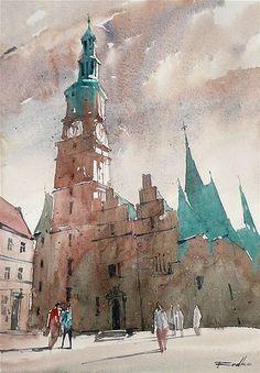 Rafal Rudko, watercolor. Wrocław VII. 21х30