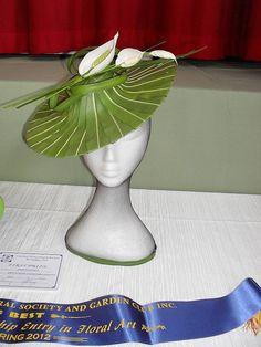 Spring Fashions - Croydon Spring Show 2012 - Blue Ribbon Deco Floral, Arte Floral, Floral Design, Diy Flowers, Flower Decorations, Ikebana, Deco Cool, Floral Headdress, Modern Flower Arrangements