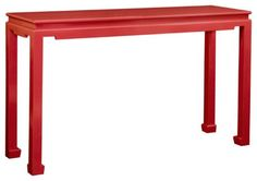 Ming Lacquer Console Table red #colorfurniture
