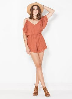 Ruffle up your look with this romper for the perfect romantic boho feel.