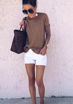 55 Unique Outfits Perfect For Summer 2019 – Best Trend Outfit - Hairstyles for Women Casual Skirt Outfits, Unique Outfits, Short Outfits, Cute Outfits, Shorts Outfits Women, Stylish Outfits, Spring Summer Fashion, Spring Outfits, Winter Fashion