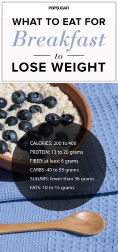 Nutritionists Reveal What to Eat For Breakfast to Lose Weight. This is an easy to use formula of what breakfast foods work~ keeping you feeling satisfied & making sure you have enough nutrition as you try to loose, or maintain weight. Eat Breakfast, Breakfast Recipes, Breakfast Ideas, Balanced Breakfast, Forma Fitness, Eat Better, Healthy Snacks, Healthy Recipes, Healthy Foods