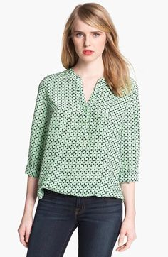 Joie Jira Print Silk Top available at #Nordstrom