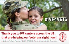 ASRM Infographics: Thank you to IVF centers across the US that are helping our Veterans