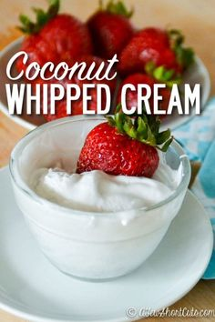 Looking for an amazing dairy free or paleo whipped cream option? This is it! You have to try this easy Coconut Whipped Cream Recipe. So easy, and tastes better than regular whipped cream. Perfect for 21 day fix!