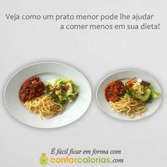 Veja como um prato menor pode lhe ajudar a comer menos em sua #dieta!