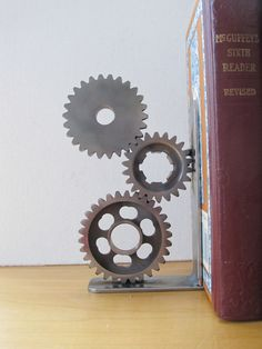 Father's Day Gift Motorcycle Gear Bookend Desk Accessory