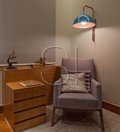Apartamento LF   Cantinho de leitura no escritório !