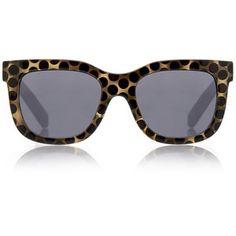 Le Specs Flatliner Polka Dot Tortoise Sunglasses