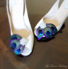 Purple & teal wedding shoes! Not a bad idea... It might pop more on white shoes than purple/black..