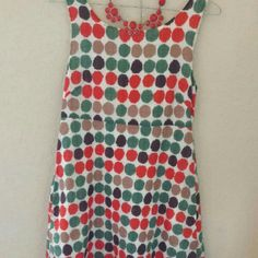 J. Crew dress Beutiful J. Crew dotted dress.  A shappe and Low back, perfect condition J. Crew Dresses Midi