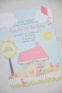 Pack 10 Birthday Invitations - by Gina.H.Designs on madeit