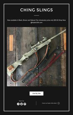 CHing Slings Weapons Guns, Guns And Ammo, Shotguns, Firearms, Cool Tactical Gear, Scout Rifle, Lee Enfield, Cool Guns, Natural Tan