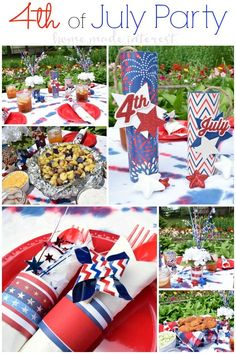 #AD Simple tips and tricks for 4th of July food, drinks, decorations. Ideas for a simple 4th of July menu and decorations for a 4th of July party. #SummerYum