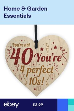 Funny Birthday Gifts For Women Men Card Wooden Sign Novelty Gift For Friend Diy 40th Birthday Card, 40th Birthday Cake For Women, 40th Birthday Presents, Happy 40th Birthday, Birthday Cards For Women, Friend Birthday Gifts, Gifts For Friends, Birthday Ideas, Making Ideas