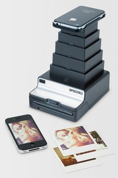 the Impossible Instant Lab, which takes your digital images from your iPhone and turns them into actual photos in an instant.