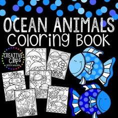 FREE Coloring Book! Enjoy this free Ocean Animals Coloring Book! Print all or some of the pages for your kiddos (or even yourself if you need a stress-free coloring session!)