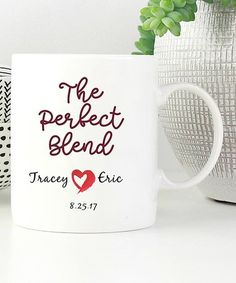 Loving this White 'The Perfect Blend' Personalized Mug on #zulily! #zulilyfinds